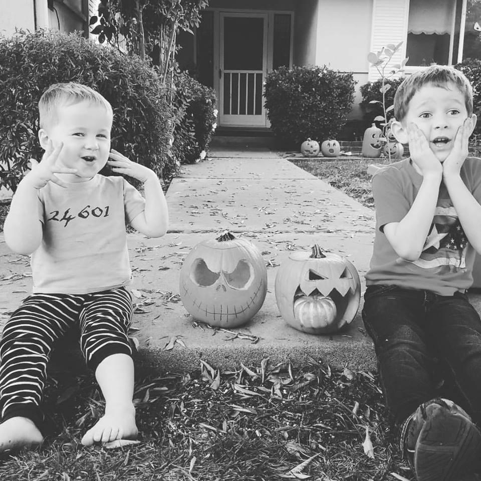 boys pumpkins